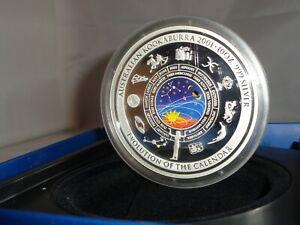 2001 $10 AUSTRALIA Kookaburra 10 Oz .999 Silver Evolution of Calendar Box & COA