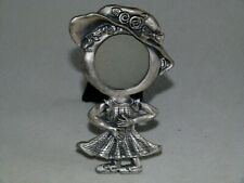 Metal Picture Frame - Girl Figure - For Round Photo