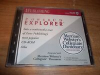 Merriam Webster's Collegiate Dictionary Tenth Edition Explorer CD ROM WIN/MAC