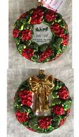 Grand Hotel Glass Christmas Ornament Red Green Wreath Mackinac Island Michigan