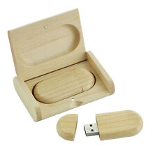 New Flip Wooden Box 16GB USB 2.0 Memory Stick USB Flash Drive U Disk Pen Drive