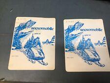 Vintage SNOWMOBILE ADVERTISEMENT RUPP SKI-DOO Arctic Cat Print Advertising