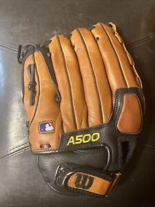 MLB Wilson A0500 12.5 125 Exc ecco Leather Men's Baseball/Softball Gloves/Mitt