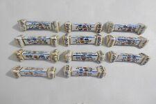 11 porte couteaux ancien en faïence Céramique Française