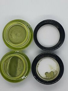 Shisedo Lot of 2 H7 Green Exotique Eyeshadow As-Is READ new but damaged