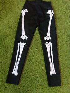 Omen. Black Canvas, Punk, Gothic, Skeleton Trousers. Size 28