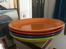 Fiestaware (set of 4) 9 1/2 inch oval plates