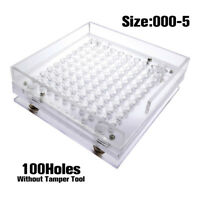 100 HOLES CAPSULES FILLER SIZE 000-5# MANUAL CAPSULES FILLING MACHINE FLATE TOOL