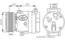 NRF Compresor, aire acondicionado OPEL VIVARO RENAULT MEGANE NISSAN 32102
