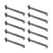 10 Pc 12 Slatwall Hangrail Bracket Holding 1 34 X 12 Rectangular Chrome
