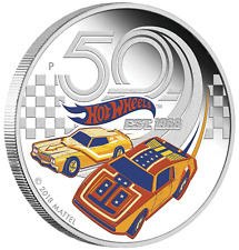 2018 50 YEARS OF HOT WHEELS 1oz $1 SILVER PROOF COIN