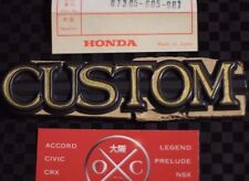 Honda Z360 NOS CUSTOM Badge Emblem Rare 70-74 Z600 71 72 73 JDM OEM N360 N600 GT