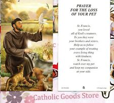 St Francis of Assisi - Prayer for the Loss of your Pet - Paperstock Holy Card