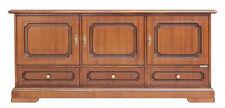 Mobiletto basso, mobile credenza 3 ante 3 cassetti, credenzina in legno