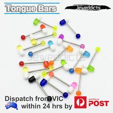 Tongue Bars Piercing Ring Capsule Body Jewellery CHOOSE SINGLE/SET of 3pc/6pc