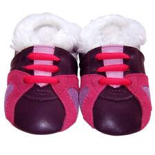 Soft Sole Leather Baby Infant Children KidsGirl TrainerPurple Gift Shoes 18-24M
