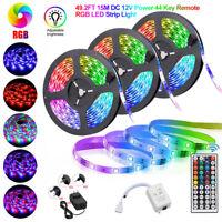 49.2ft 32.8ft Waterproof RGB 3528 LED Strip Light SMD+44Key Remote+12V Power Kit
