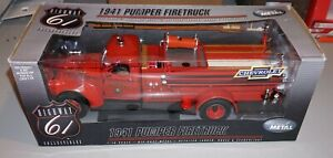1941 Pumper Firetruck 1/16 Highway 61 Chevrolet Diecast New Never Out Of Box!