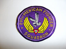 b1083 WW 2 Mexican 201st Fighter Squadron patch R12B