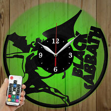 LED Vinyl Clock Black Sabbath LED Wall Art Decor Clock Original Gift 2676