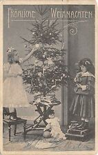 BG32542 children with christmas tree candle toy weihnachten germany