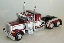 WHITE MAROON PETERBILT SMALL BUNK DAY CAB OPTION ONLY 1/64 DCP DIECAST 33565