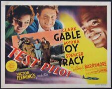 TEST PILOT CLARK GABLE MYRNA LOY SPENCER TRACY 1938 TITLE CARD