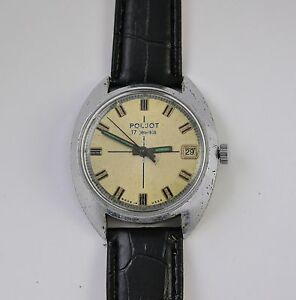 VINTAGE POLJOT SOVIET USSR MECHANICAL WRISTWATCH