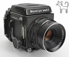 Mamiya RB67 Pro 6X7 Medium Format Camera w/ 127mm F3.8 lens 120 back WLF TESTED