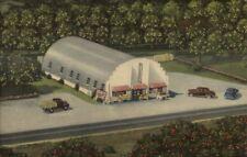 Largo FL Williams Groves Route 19 Linen Postcard