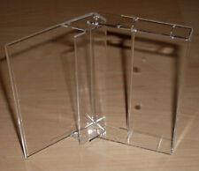 10 Kassettenhüllen Leerhüllen f. Cassetten MCs Hüllen transparent ohne Pins Neu