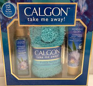 Calgon Take Me Away! Morning Glory Fragrance Mist Socks Body Cream 3-pc Gift Set