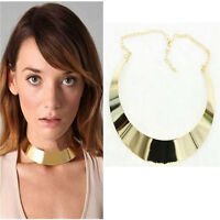 Punk Women Girls Metal Necklace Collar Chunky Statement Chain Pendant Bib Choker