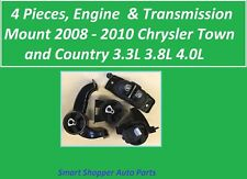 4 Pieces Engine & Transmission Mount for 2008 - 2010 Chrysler Townn & Country