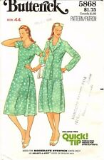 Vtg 1970s Butterick Sewing Pattern Women's DRESS JACKET 5868 Plus Size 44 UNCUT