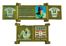 1999 Nolan Ryan Cooperstown MLB HOF Bronze Door Pin in Display Box - Rangers