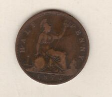 More details for 1874 victoria half penny in good fine to near very fine condition