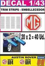 DECAL 1/43 MG METRO 6R4 TRIM STRIPS - EMBELLECEDOR (02)