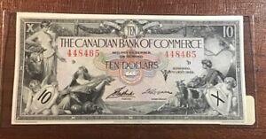 1935 CANADIAN BANK OF COMMERCE $10 **TORONTO** CANADA (AU) *RARE*