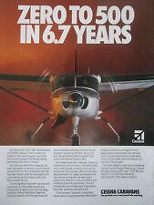 12/1991 PUB CESSNA 500TH CARAVAN AIRCRAFT FEDEX AVION FLUGZEUG ORIGINAL AD