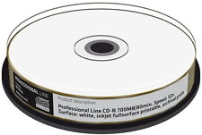 100 Professional Rohlinge CD-R full printable GOLD 24 Karat 700MB 52x Spindel