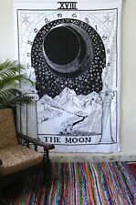 Tarot Tapestry Wall Hanging Magical The Moon Bedspread Small Tapestries Throw
