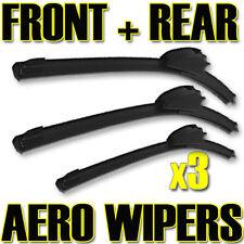 """16/"""" Rear Aero VU Flat Wiper Blades Windscreen Window Jointless Beam Upgrade XE8"""