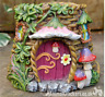 Fairy House Pink door Planter Pot garden ornament decoration Pixie lover gift