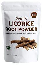 Organic Licorice Root Powder (Liquorice) Mulethi Glycyrrhiza Glabra 4,8,16 oz