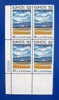 Sc # 1339 ~ Plate # Block ~ 6 cent Illinois Statehood, 150th Anniversary (ch19)