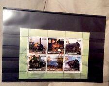 ss Foglio con 6 francobolli dedicato al mondo delle ferrovie (MAURITANIE)