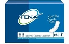 TENA Light Pads, Long Pant Liners, Moderate Absorbency, 41409 - Pack of 60