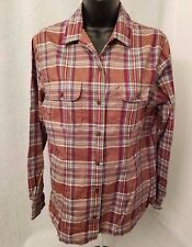 Crazy Horse Womens Blue/Brown/White/Green/Red Plaid Button Down Shirt Top Size M