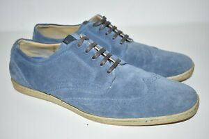 Mens Fred Perry Jacobs Blue Suede Brogue Lace Up Shoes B9045/379 UK 9.5 EU 44